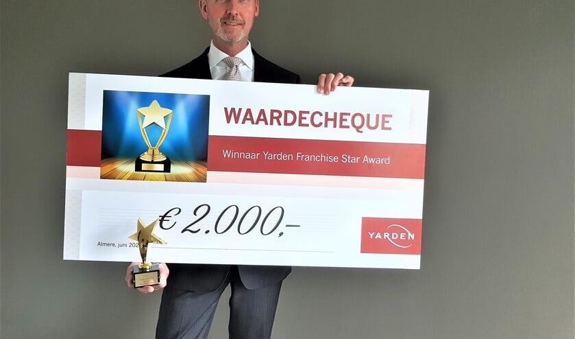 John Heskes heeft de Star Award 2020 van uitvaartorganisatie Yarden in de wacht gesleept (foto: pr).