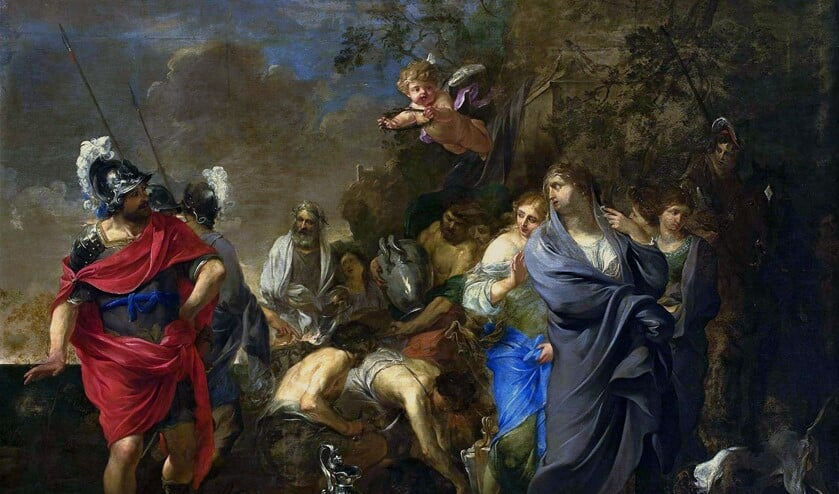 Charles Alphonse du Fresnoy (1611 - 1668): 'Aeneas and Dido' (foto: collectie: Nationaal Museum, Warschau).