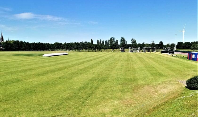 Dankzij fantastisch werk van de groundstaff ligt het cricketveld er geweldig bij, dus VCC is er helemaal klaar voor (foto: pr).