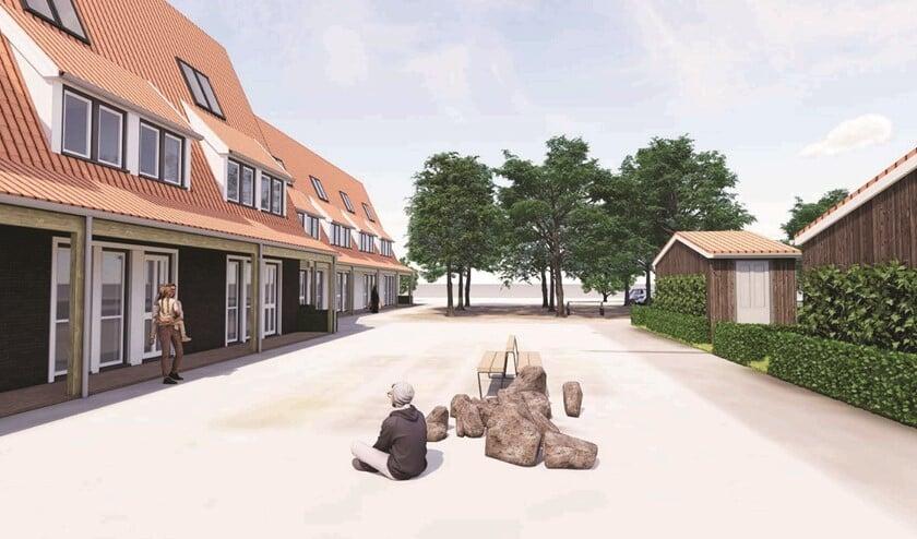 Impressie van het bouwplan voor de Westeinderweg in Stompwijk (foto: pr).