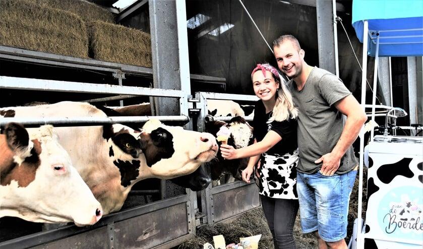 <p>Rick van Boheemen en Demi Olsthoorn zijn samen met de ouders van Rick de Ondernemer van het jaar 2020 geworden (foto: PR).</p>