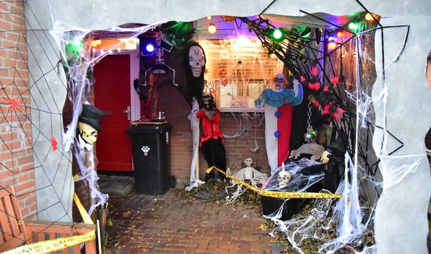 Halloween huis vorig jaar. Foto: Rita Soutendijk