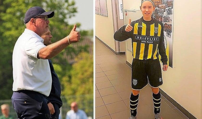 Vader Dennis (Forum Sport-trainer) en dochter Deau den Turk (Wilhelmus JO16-1) (foto's: AW & privé).