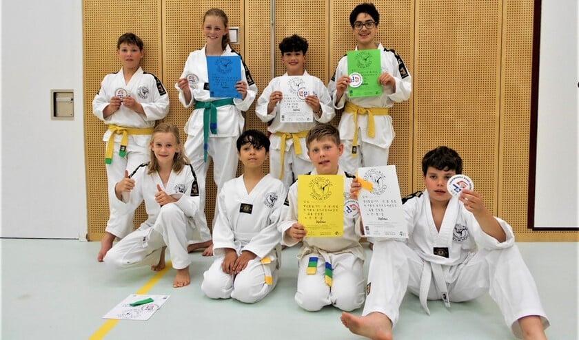 <p>Enkele van de geslaagde taekwondoka&#39;s van <br>Gyeong-rye (foto: pr).</p>