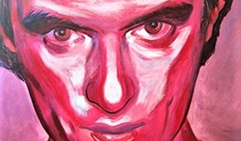 <p>Zelfportret van Carl Palm in het rood en het zwart van Stendhal, de inspiratiebron van de kunstschilder en schrijver.</p>