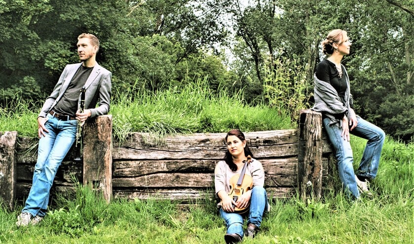 <p>Het trio LEA, bestaande uit Lars Wouters van den Oudenweijer &ndash; klarinet, Esra Pehlivanli &ndash; altviool en Anastasia Safonova &ndash; piano (foto: pr).</p>