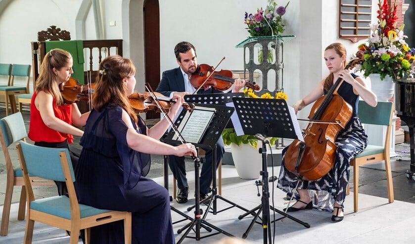 Het slotconcert werd verzorgd door het Alkyona Quartet (foto: Michel Groen).