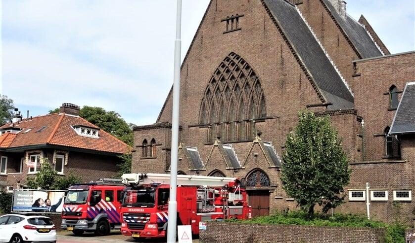 <p>De Onze Lieve Vrouwekerk aan de Laan van Nieuw Oosteinde is onder meer oefenlocatie voor de brandwer (foto: Ap de Heus).</p>