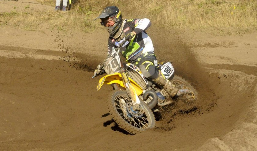 Tino Broere uit Wanssum was tevreden met een vierde plaats bij de MX open nationalen. Foto: Maycel de Bruijn.