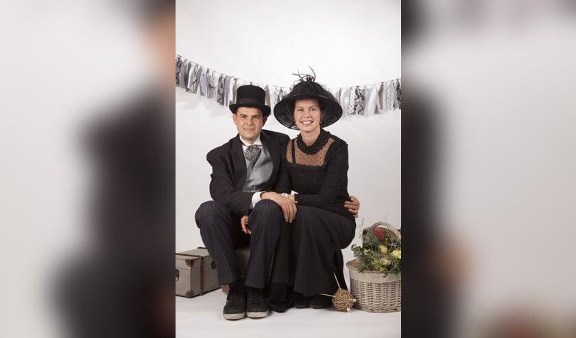 Rob en Diana Seuren boerenbruidspaar van D'n Bok. Foto: Sanne Hendriks fotografie