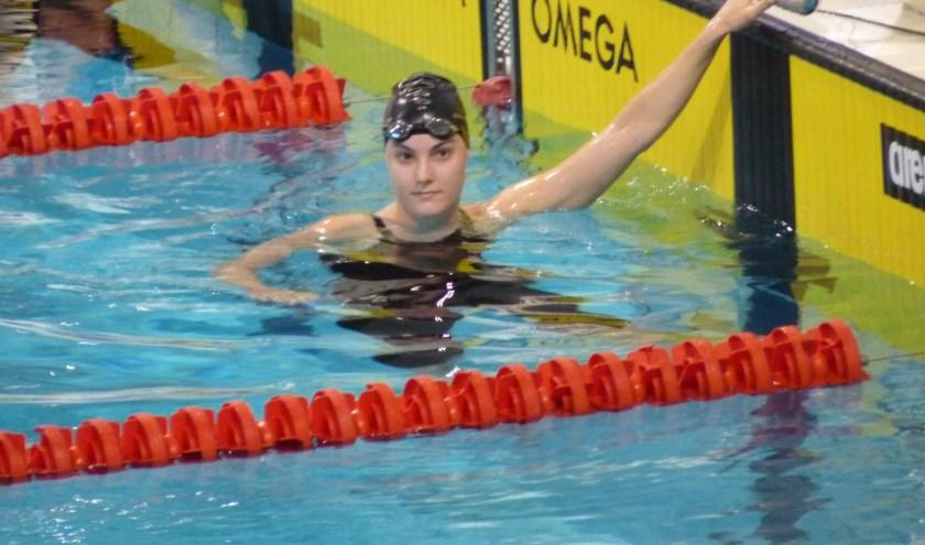 Lisa Dreesens pakte drie zilveren medailles op het NK in Hoofddorp.