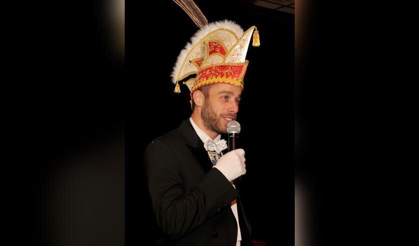 Bart Direks is de nieuwe vorst van de Karklingels in Oostrum. Foto Jos Euwes.