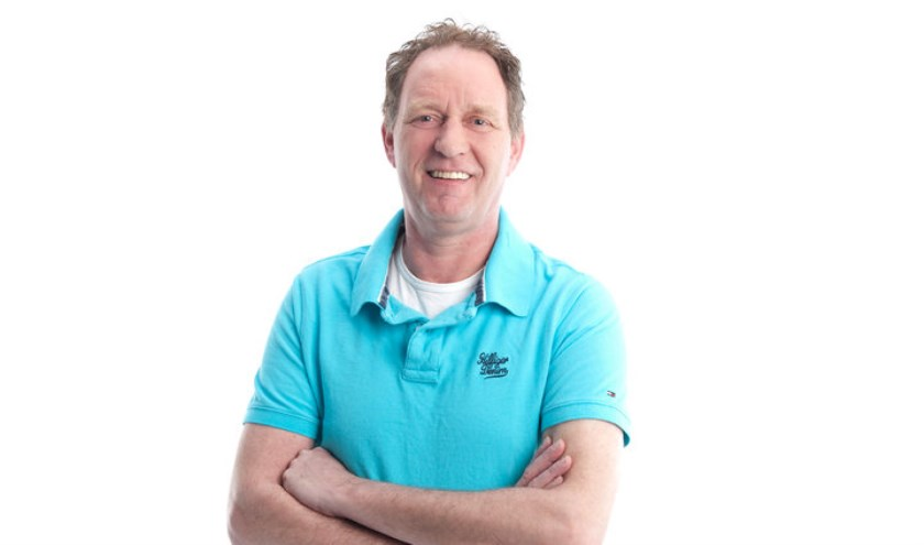 Piet Paulusma presenteert  woensdagavond zijn weerbericht  in hartje Venray.