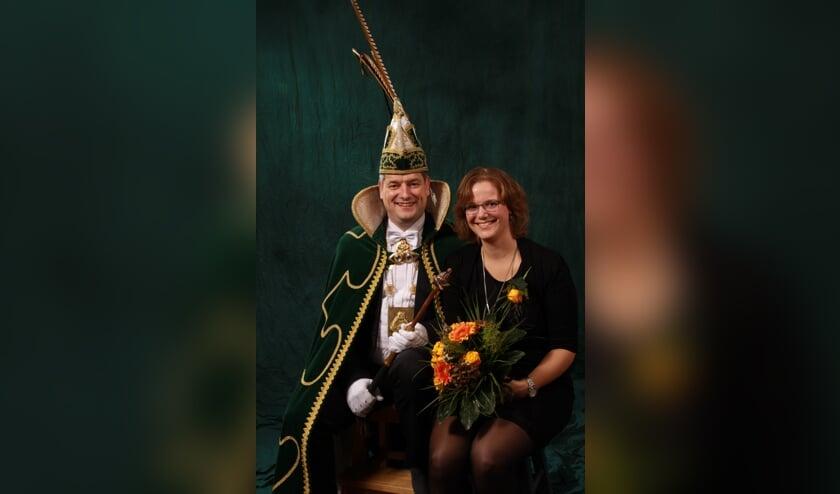 Prins Freek I en zijn prinses Marjon. Foto: Chris van Glabbeek,  Overloon.