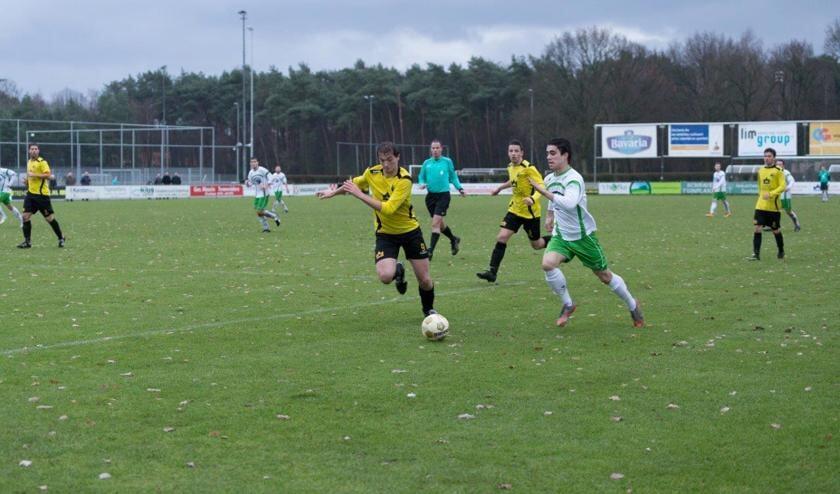 SSS'18 pakte zondag op het eigen sportpark De Raay een punt tegen Geldrop. Foto: Albert Hendriks.