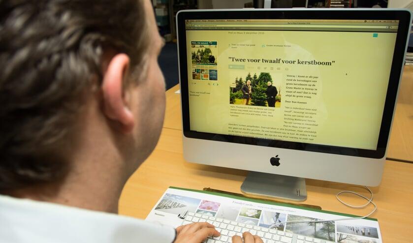 Er wordt momenteel hard gewerkt aan het perfectioneren van Peel en Maas als e-paper. Foto: Henk Lammen.