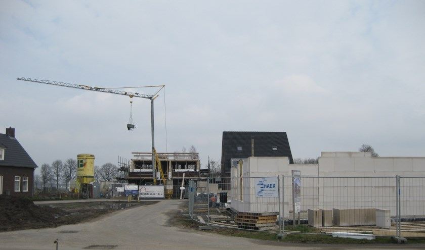 Woningbouw in Heide.