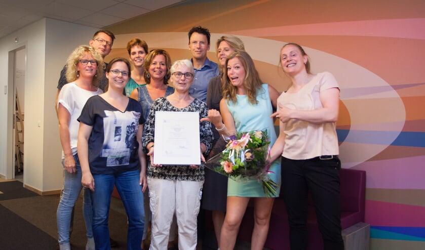 Medewerkers huisartsenpraktijk Antoniusveld met het behaalde certificaat