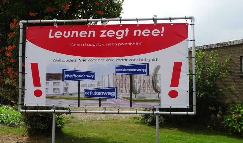 in Leunen neemt het verzet toe tegen de komst van een Polenhotel. Foto: Henk Willemssen.