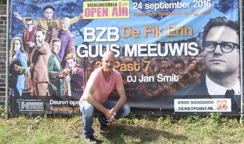 Maarten Hermans hoopt vele muziekliefhebbers in Vierlingsbeek te kunnen begroeten. Foto: Simone Swinkels.