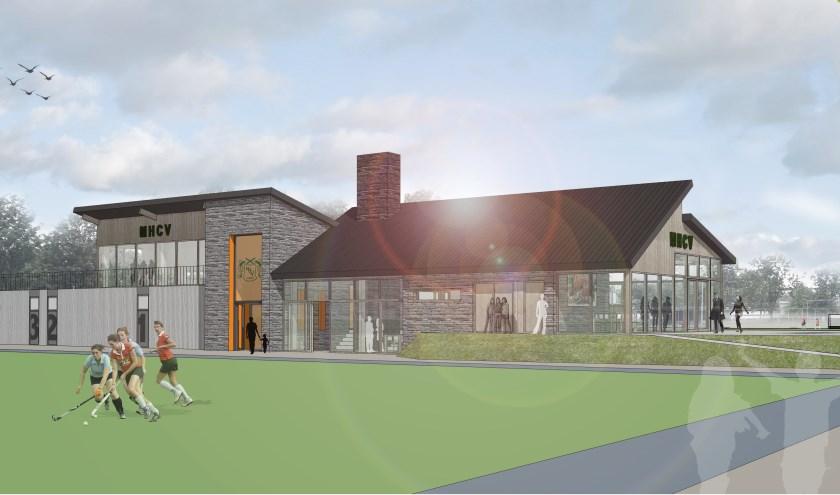 Een impressie van het multifunctionele clubgebouw van Hockeyclub Venray.