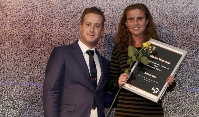 Myrthe Moorrees werd uitgeroepen tot sportvrouw van het jaar 2017 in Venray. Foto: Rikus ten Brücke.