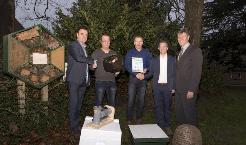 René Duijkers (links), Thijs Wijnen, Sjaak Buyssen, Bas Linssen en Jan Loonen.