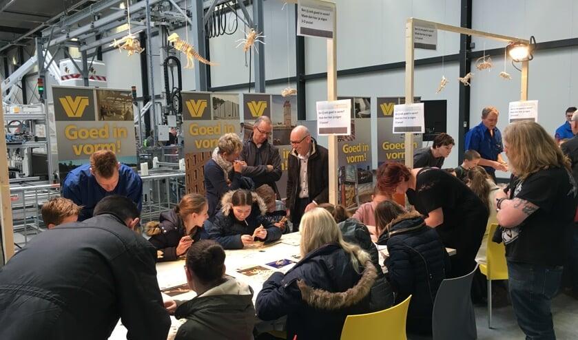 Bij Verhoeven Timmerfabriek konden de bezoekers 3D-puzzels maken.