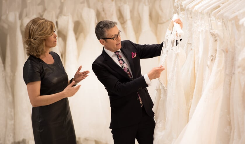 Gladys van den Munckhof en Randy Fenoli, hét gezicht van Say Yes to the Dress. Foto: Fotogalerie Mieke.