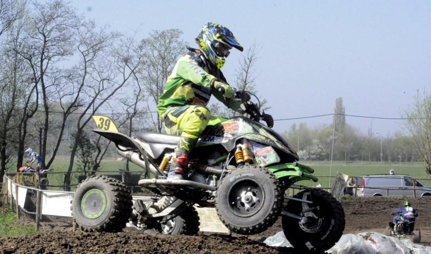 Johan Gommans (Oirlo) won verrassend bij de quads inters. Foto: Maycel de Bruijn.