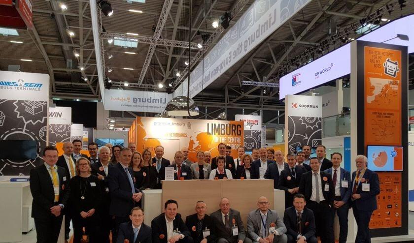 Logistiek Limburg presenteert zich gezamenlijk op een flinke stand op de transport- en logistiekbeurs in München. Foto: provincie.
