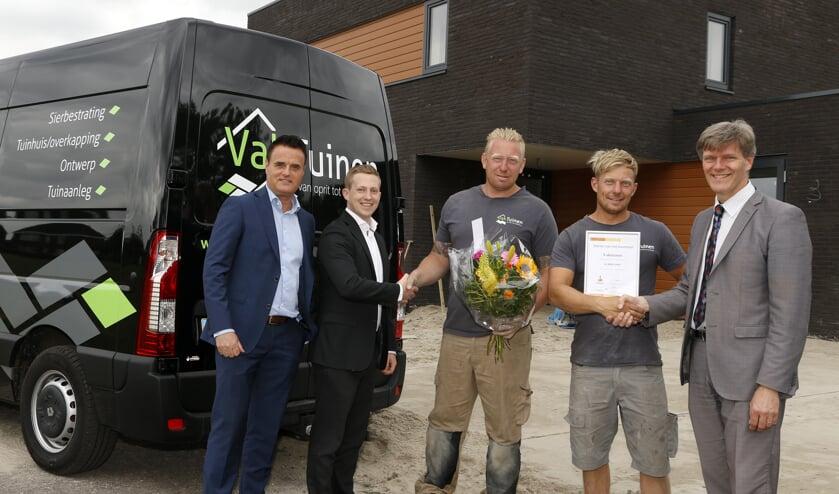 Van links naar rechts:René Duijkers, Bas Linssen, Daan en Wouter Verheijen en Jan Loonen.