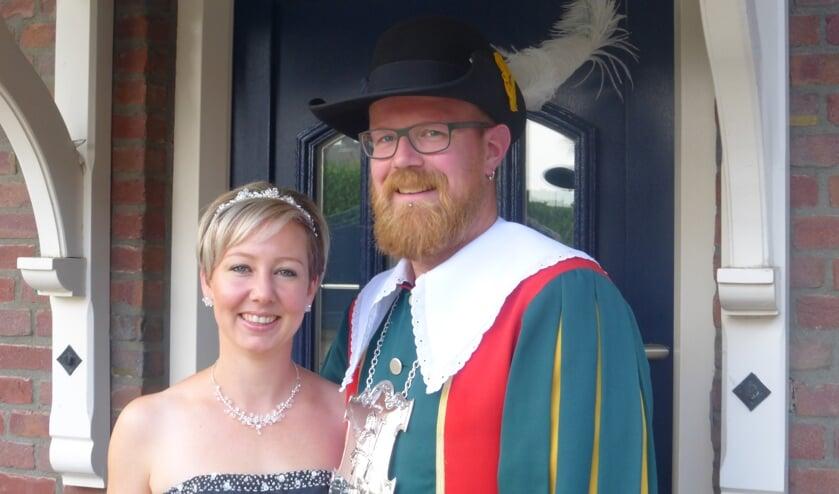 Het koningspaar Stef en Linda Katelaan- Collin.