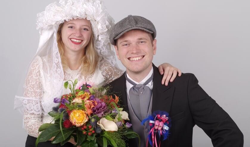 Maartje Emons en Daan Janssen zijn zondag uitgeroepen tot boerenbruidspaar van De Piëlhaas