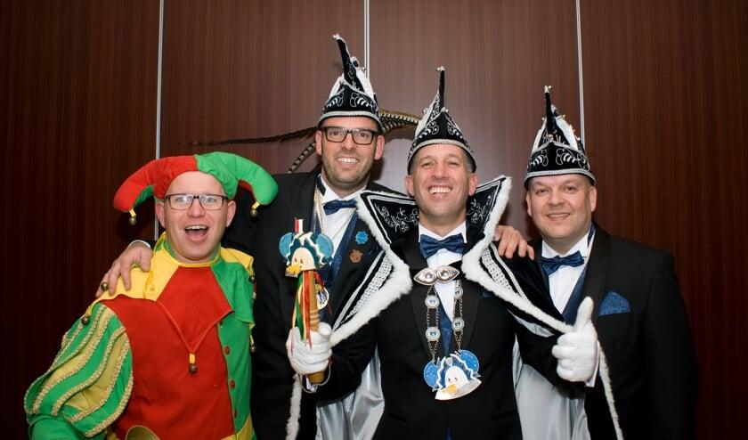Het kwartet van De Wiendbuul, met prins Rick I (Rutten). Foto: Ingeborg Verberkt.