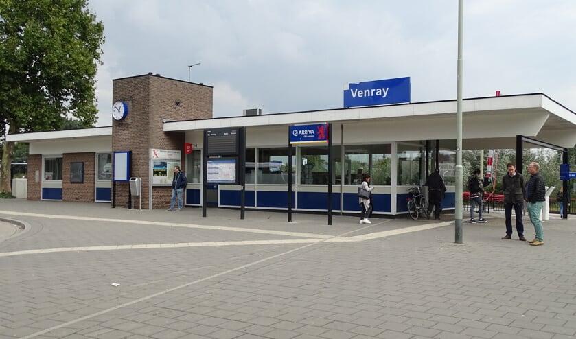 Het treinstation in Oostrum.