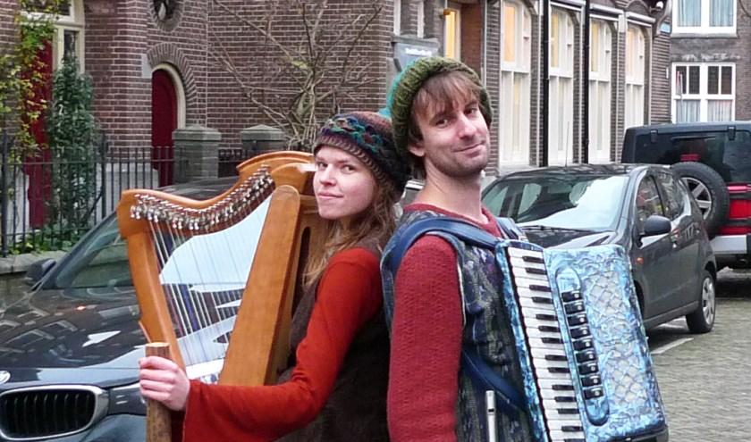 Het duo Luuk & Iris, muzikale duizendpoten.