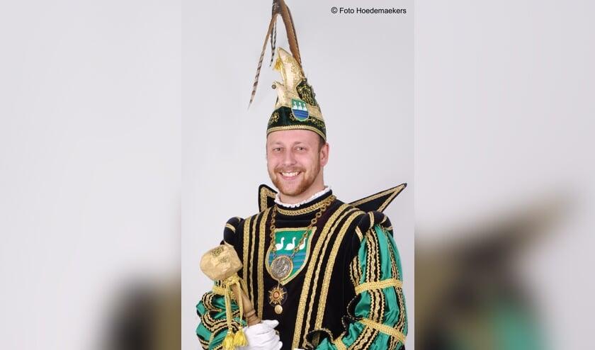 Prins Rick I van De Keieschieters in Geijsteren. Foto: Hoedemaekers Venray.