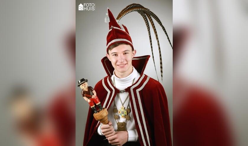 Martijn Franken is de nieuwe jeugdprins van de Piëlreuzen. Foto: Fotohuis Venray.