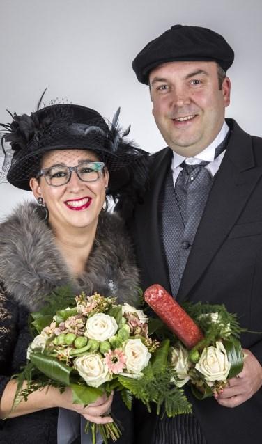 Arno en Ilse Kursten boerenbruidspaar D'n Bok in Swolgen.