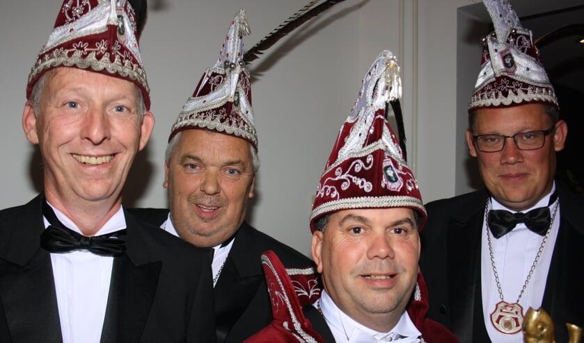 Prins Marius van Boekel en zijn adjudanten.