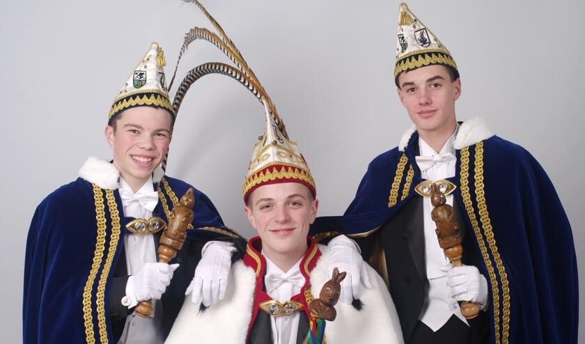 Het nieuwe jeugdtrio van D'n Hazekeutel. Foto: Hoedemaekers.