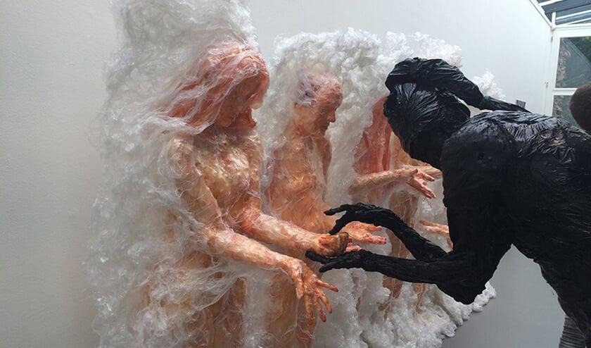 Een installatie van kunstenaar Mathieu Klomp.