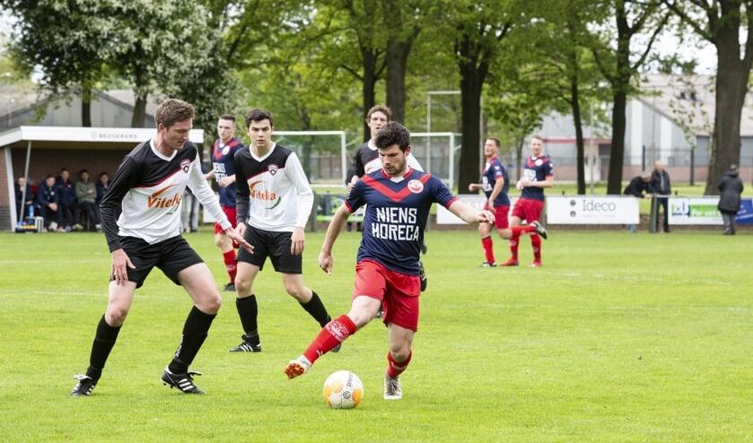 Yssselsteyn speelde zondag met 1-1 gelijk tegen MVC'19. Foto: Jolijn van Goch