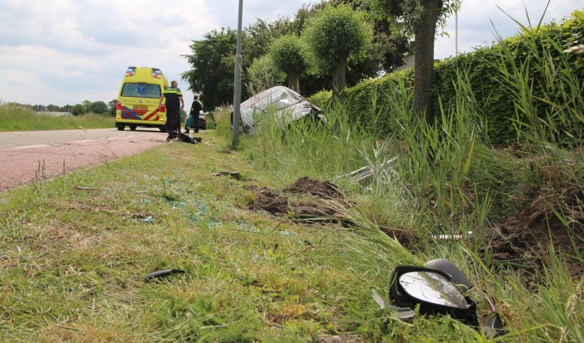 Ongeval op Heidseweg in Heide; autobestuurder ongedeerd.