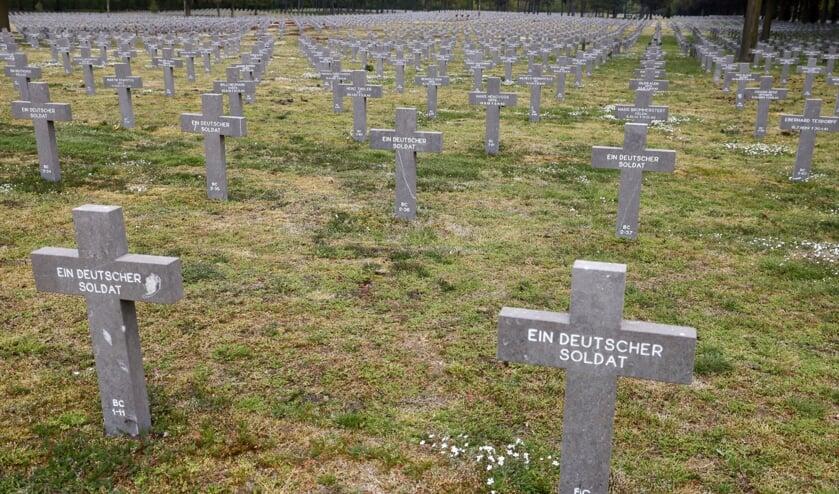De Duitse militaire begraafplaats in Ysselsteyn.