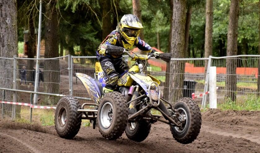 Diego Hanen miste net het podium tijdens het NK junior quads in Heerde.