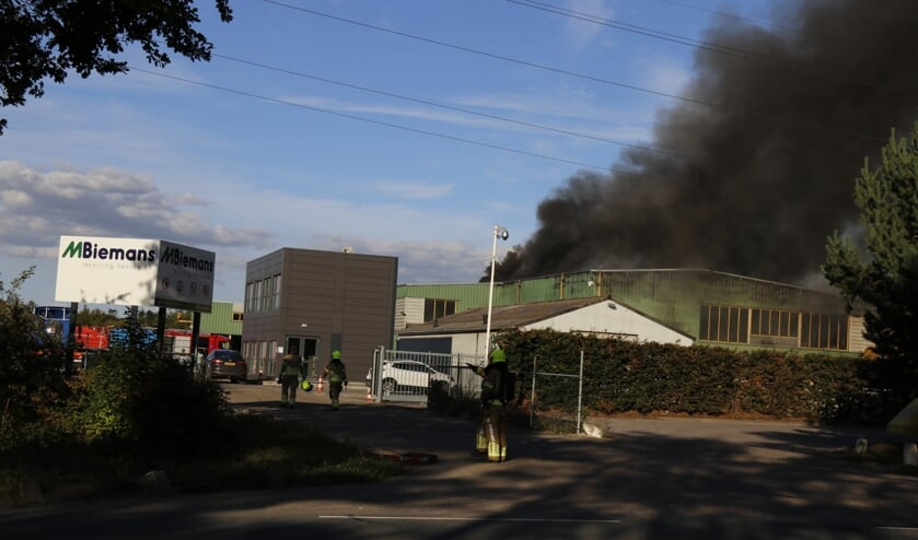 Brand bij Venrayse afvalverwerker.