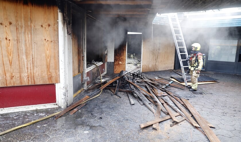 Brand woensdagmorgen in voormalig winkelpand in Brukske.