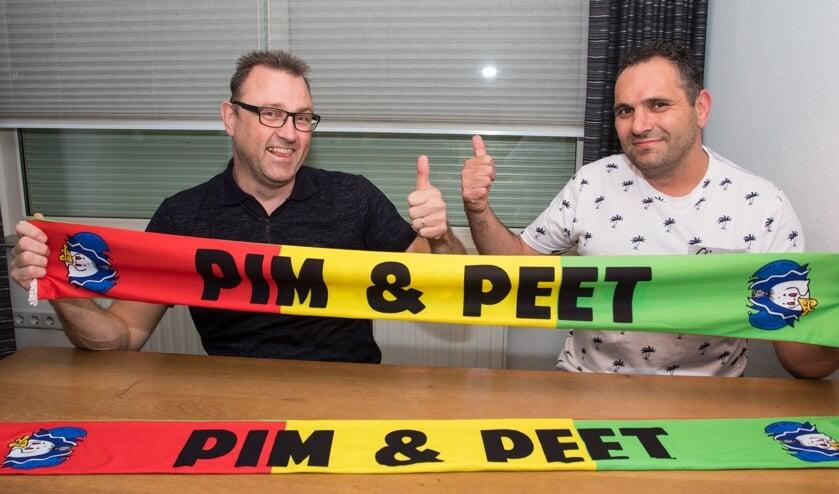 Pim (rechts) & Peet houden zaterdag de eer van Wanssum hoog.